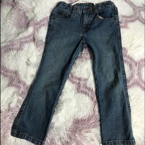 Wrangler boys' medium wash slim fit jeans, size 5